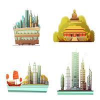 Hong Kong 2x2 Design-Konzept vektor