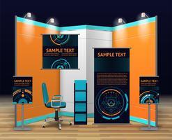 Utställningsstativ Design vektor