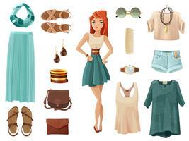 mode kvinna set