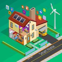 Internet der Dinge zu Hause isometrische Poster