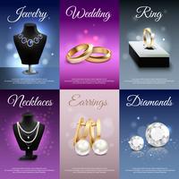 Smycken Realistiska Banderoller
