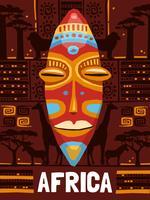 Stammes-ethnische Maske Vorlage vektor