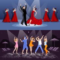 dansar folk kompositioner vektor