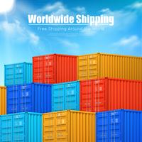 Plakat der Frachtcontainer Versand vektor