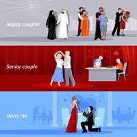Paare Menschen flache Banner vektor