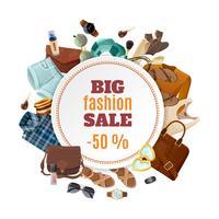 Modeförsäljningsaffisch