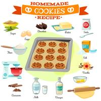 Bakning Ingredienser Recept Illustration vektor