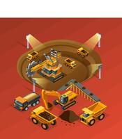 Isometrisches Konzept des Bergbaus