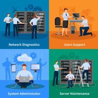 IT-administratör 2x2 Designkoncept