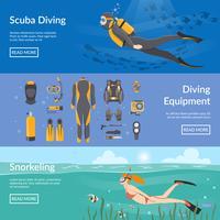 Dykning och Snorkling Horisontella Banderoller