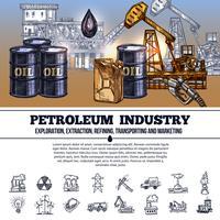 Oljeindustrin Infographics vektor
