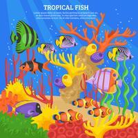 Tropisk fisk hav bakgrund vektor