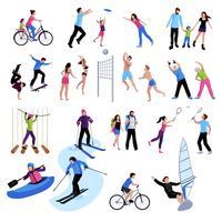 Aktiva fritidssymboler Set