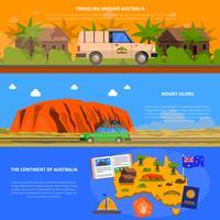 Australien Banners Set vektor