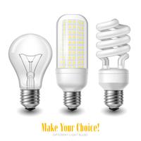 LED-lampa uppsättning vektor