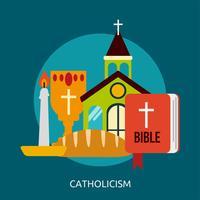 Katholizismus konzeptionelle Illustration Design