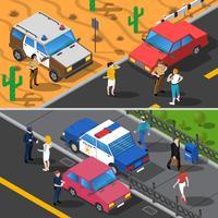 Polis Människor Banderoller