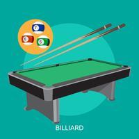Billard konzeptionelle Darstellung Design