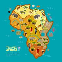Reise-Afrika-Plakat