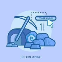 Bitcoin Mining Konceptuell illustration Design