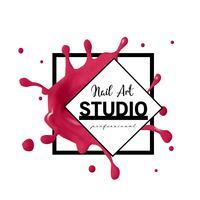 Nail Art Studio Logo Design-Vorlage.