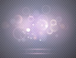 Abstrakta glödande bokeh-lampor. vektor