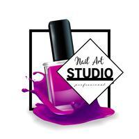 Nail Art Studio logo design mall.