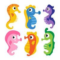 Seahorse vektor samling design