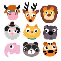 djur huvud vektor design