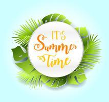 Sommerzeit-Vektor-Fahnendesign.