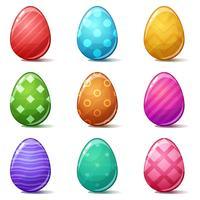 Glad påsk, Ställ in färgägg. vektor