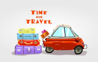 Bilresa. Tid för resor. vektor