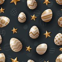 Ägg sömlösa mönster. Glad påsk.