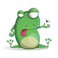 Süße, lustige Froschkarikatur