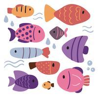 Fisch-Charakter-Vektor-Design