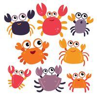 Krabben-Charakter-Vektor-Design vektor