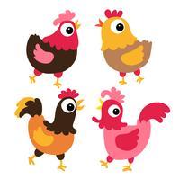 Hühnervektor-Sammlungsdesign vektor