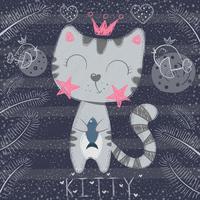 Nette kleine Prinzessin - lustige Katze