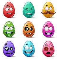 Fröhliche Ostern, Set Farbe Ei.
