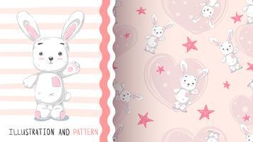 Gullig kanin - idé för tryckt-skjorta vektor