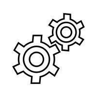 Einstellungslinie Schwarzes Symbol