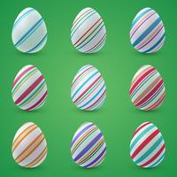 Frohe Ostern Cartoon. Ei-Symbol festlegen.