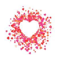 Stellen Sie Herz, abstrakte Liebesillustration ein. vektor