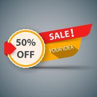 Bannerverkauf für Ihre Idee. vektor
