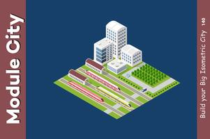 Isometrisk 3D-transporttåg
