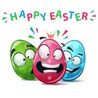 Fröhliche Ostern, Set Farbe Ei. vektor
