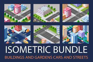 Bundle set infrastruktur vektor