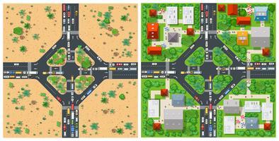 Transport der Straße von oben vektor
