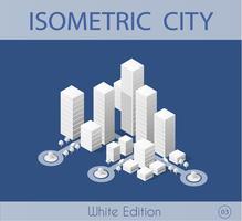 Den isometriska staden med skyskrapa