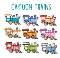 Tecknade lokomotiv retro